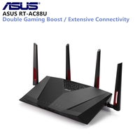 ASUS RT AC88U беспроводной маршрутизатор MIMO технология Двухдиапазонная сеть Wi Fi ретранслятор 1800 Мбит/с Поддержка VPN IEEE 802.11n/g/b/a