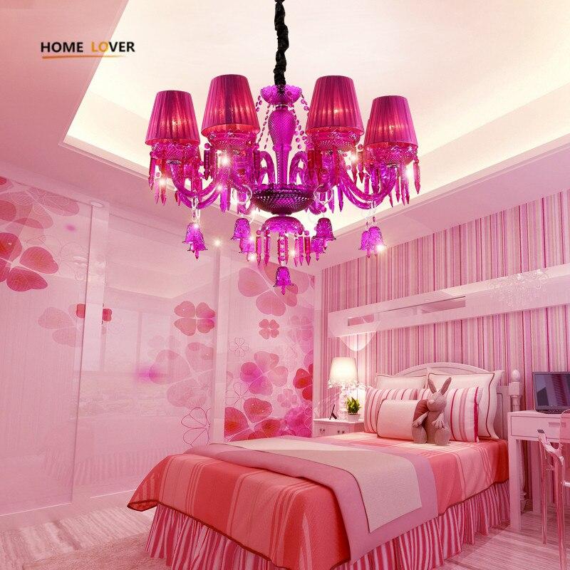 New Luxury K9 Crystal Chandeliers Lighting Pink Candle LED Pendant Hanging Living Room Lustres De Cristal Lamp Fixtures Kid room цена 2017