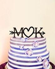Initial Cake Toppers Wedding Decoration Custom Wedding Cake Toppers Casamento Party Decoration Bride & Groom Wedding Cake Topper