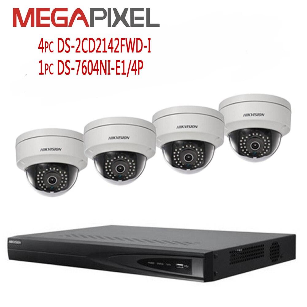 Kit caméra hikvision 4mp Réseau vidéo Surveillance Système de Sécurité DVR NVR ip caméra