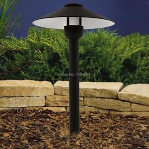 Image 1 - AC 12V Aluminum Path Lights LED Light Garden Yard Lawn Lamp Outdoor Landscape Walkway Pathway Lighting G4 bulbs Post Cap Light