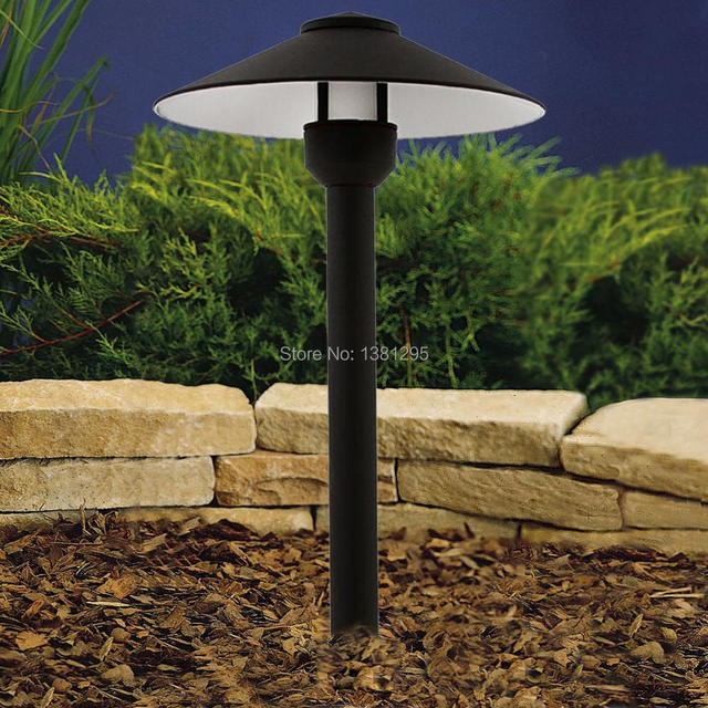 AC 12V Aluminum Path Lights LED Light Garden Yard Lawn Lamp Outdoor Landscape Walkway Pathway Lighting G4 bulbs Post Cap Light