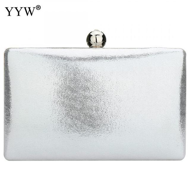 fotos nuevas mejor elección Nueva York Venta YYW bolso de embrague plata para mujer fiesta noche elegante ...