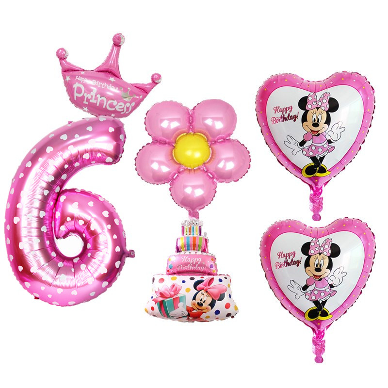 1 Set Boy Girls 6 Years Old Birthday Party Balloons