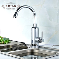 EU Plug Tankless Instant Faucet Water Heater Instant Water Heater Tap Kitchen Hot Water Crane 3000W