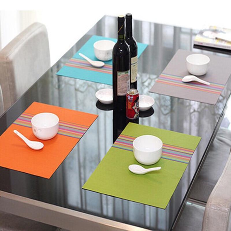 Y137 pvc placemat dining table mats set de table bowl pad