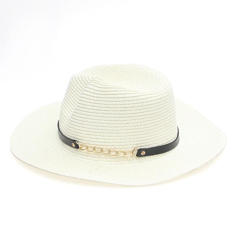 7830d7f29 US $8.59 |Women Summer Hat Spring Lady Snapback Gorras Caps Ribbon Bow  Round Flat Top Cover Flower Straw Beach Hats Women Sun Hat -in Women's Sun  Hats ...