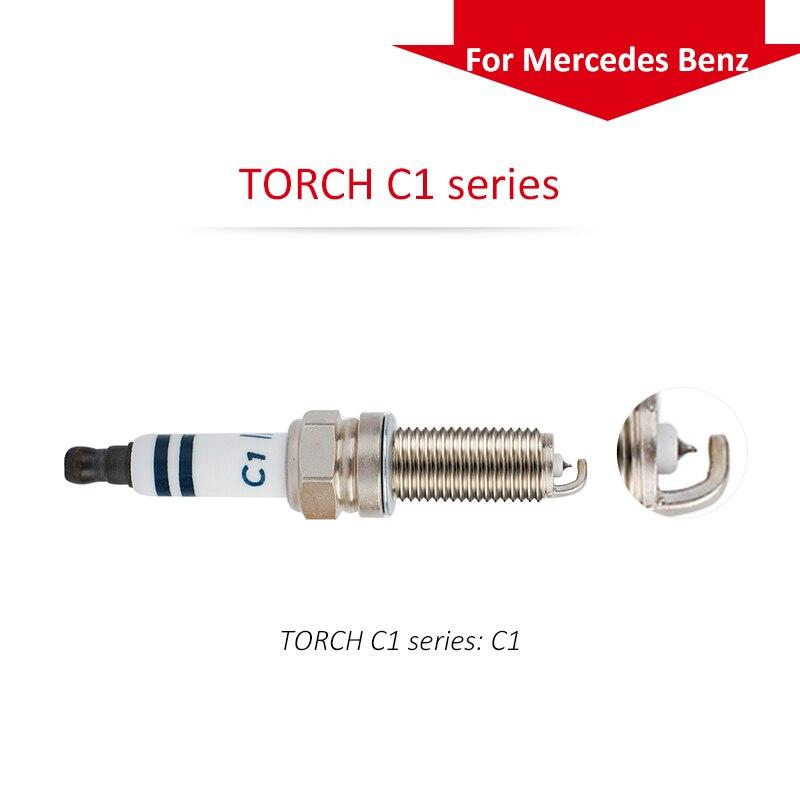 4pcs/lot China original TORCH iridium spark plugs TORCH C1 series for Mercedes Benz iridium spark plugs 4 pack