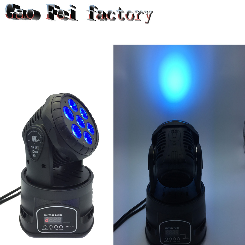7*12w Led RGBW Wash/Zoom Light DMX512 Moving Head Light Professional DJ /Bar /Party /Show /Stage Light LED Stage Machine mini laser light r g color stage light dj bar party show stage light led stage machine