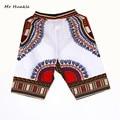 Novo Design de Moda Africano Tradicional de Impressão Algodão Dashiki Africano dos homens Curtas Praia frete grátis curto