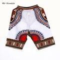 Nuevo Diseño de Moda Africana Tradicional de Impresión de Algodón Africano Dashiki Corto hombres Playa corto envío gratis
