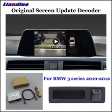 Liandlee Car Original Screen Update System For BMW 3 E90/E91/E92/E93 CIC Rear Reverse Camera Digital Decoder Display Plus