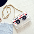 New Fun design personalized fashion tape transparent acrylic modeling mini messenger bag ladies handbag shoulder bag purse party