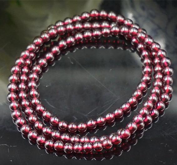 Natural crystal wine red garnet bracelet