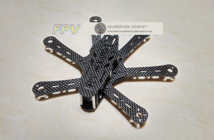 DIY FPV mini QAV180 cross racing drone RD180 hexacopter pure carbon fiber frame