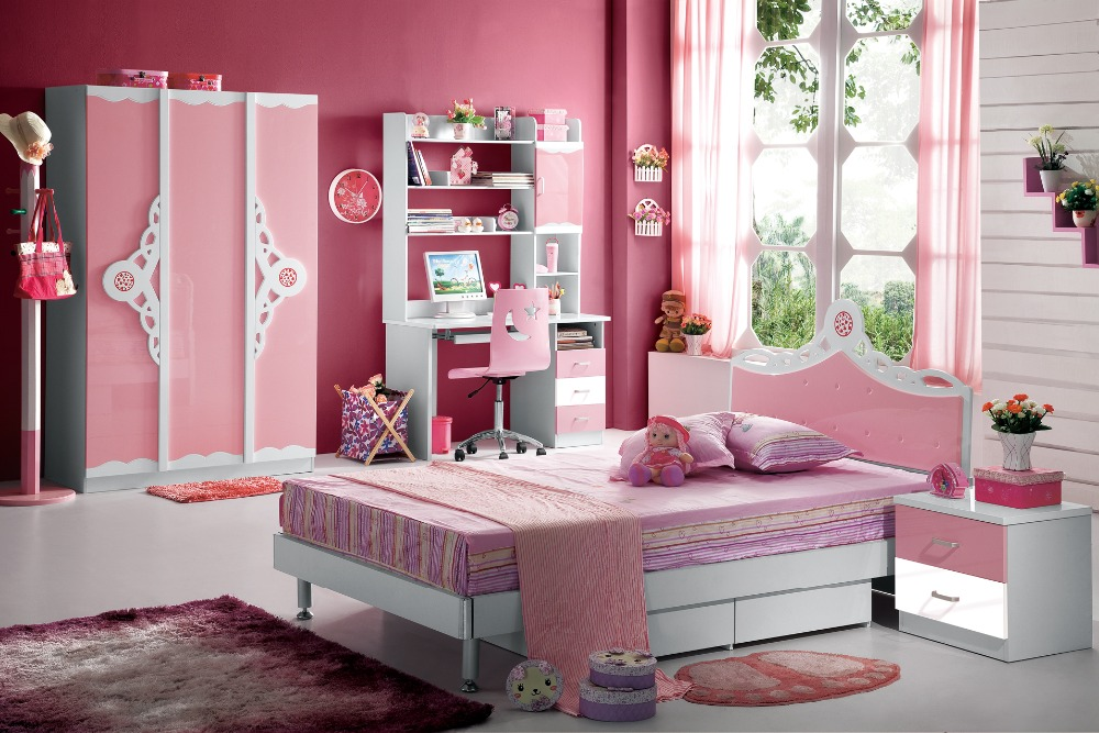 2018 Kids Table And Chair Loft Bed Set Child Desk Chair