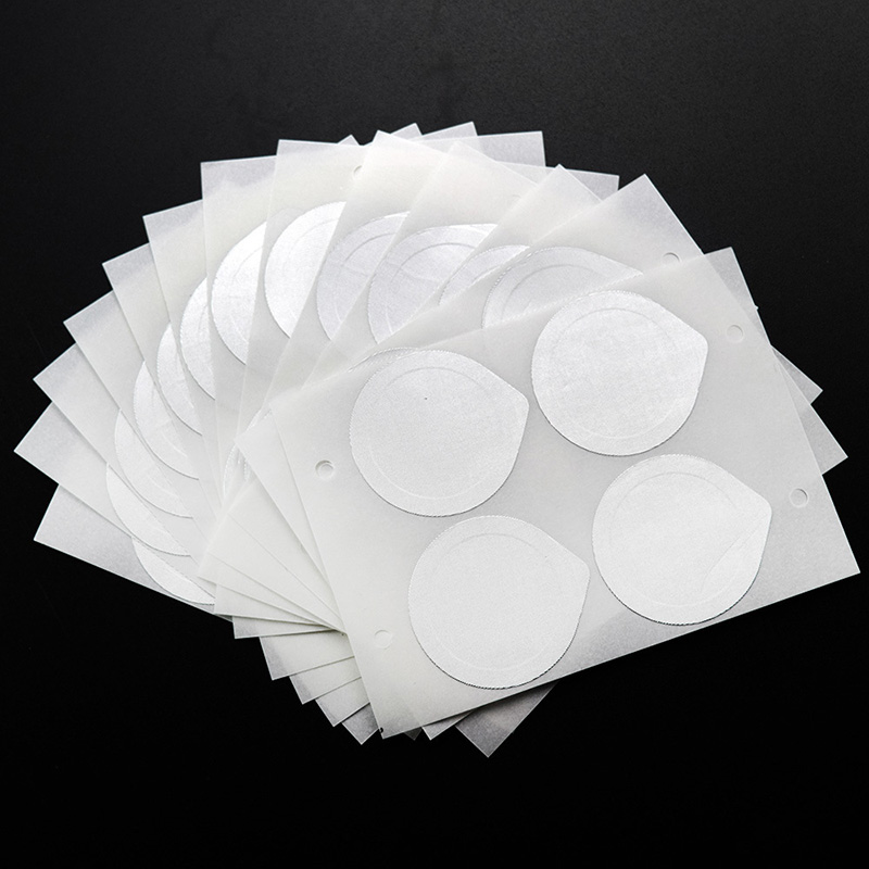 100pcs Food-Grade Nespresso Coffee Capsule Sticker Reusable Refilling Aluminum Foil Seals Film Silicone Rubber Rings O-rings