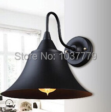 Free shipping 5pcs/lot vintage wall lights iron white glass hanging bell wall lamp E27 110V 220V for home decoration
