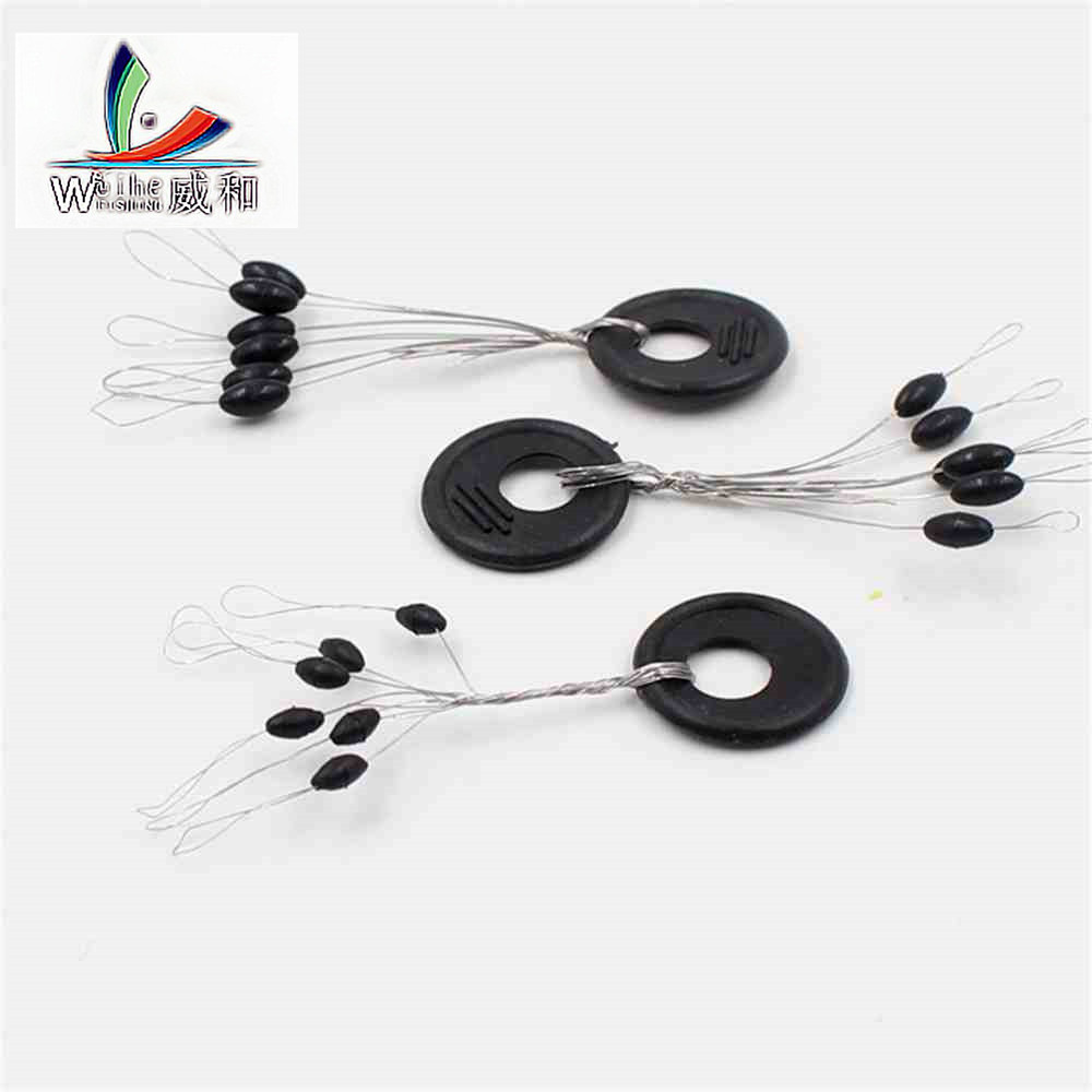 10 Group 60 PCS High Quality Original Plastic Resistance Oval Space Bean Float Not To Hurt Fishing Line Vertical Fish Accessorie ...