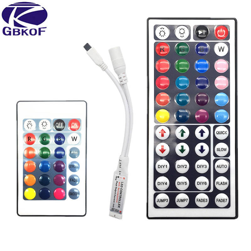RGB LED Remote Controller Switch Wireless 24 44 Keys Music  WiFi LED Controller For RGB LED Strip Light 3528 5050 RGB Lamp