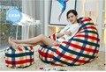 Bolsa de frijol sofá Perezoso Ywxuege pequeño tamaño de un solo tejido de microfibra de cuero de cuero sofá silla con reposapiés (relleno incluido)