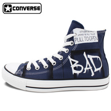 Blue Police Box Converse All Star Men Women Shoes Design Hand Painted Shoes High Top Canvas Sneakers