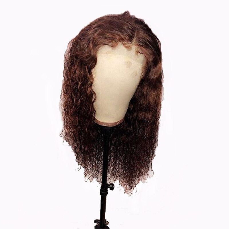 #30 Rötlich 13x6 Spitze Vorne Perücke Tiefe Teil Farbige Perücken Wasser Welle Remy Brasilianische Spitze Vorne Menschlichen Haar Perücken Preplucked Baby Haar