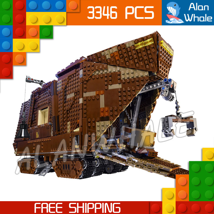3346pcs Space Wars universe 05038 Sandcrawler DIY Model Building Blocks Crawler Transport Tank Toys Bricks Compatible with Lego 957pcs space wars jedi defender class cruiser universe starship 05085 model building block toy bricks games compatible with lego