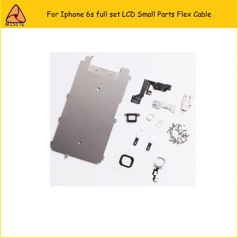 New For iphone 6S LCD Digitizer Full Set Small Repair Part Metal Shield Plate Front Camera Ear Speaker Home Button Flex image