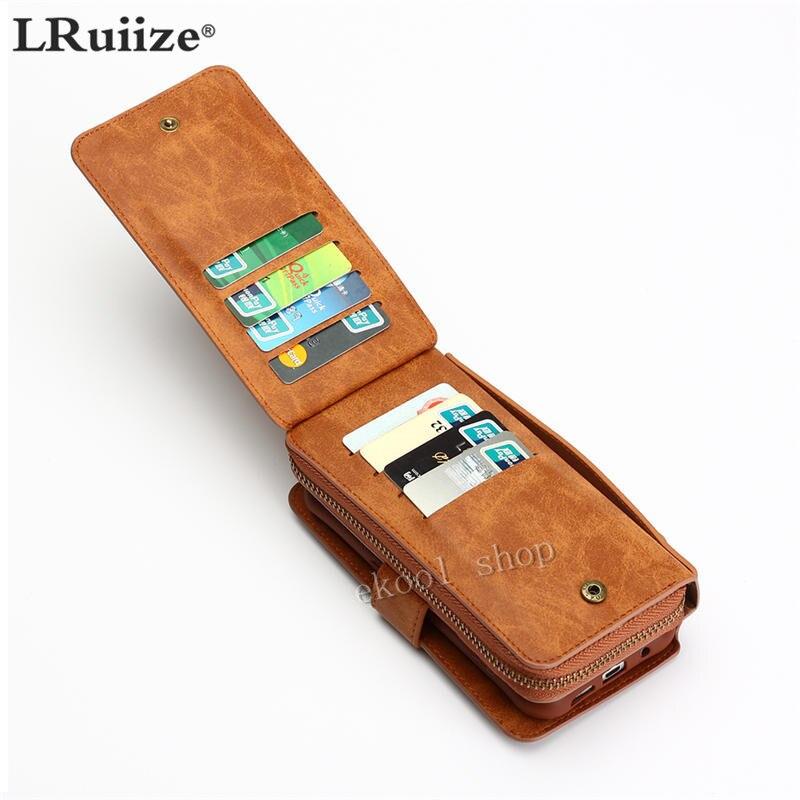 LRuiize Retro Multifunción Cartera Funda de cuero para teléfono - Accesorios y repuestos para celulares - foto 5