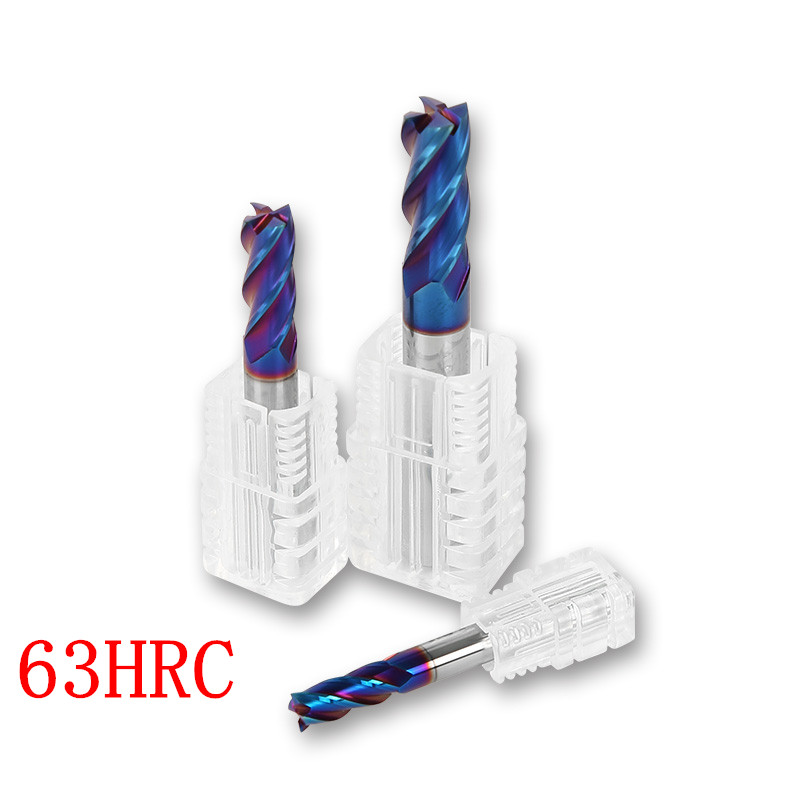 3Pcs 5mm Carbide End Mill Set For Aluminum 3-Flutes CNC Milling Cutter Bit HRC45