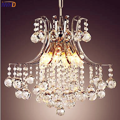 IWHD Crystal Modern LED Pendant Lamp Bedroom Living Room Lampen Pendant Lights Fixtures Hanging Light Lustres Cristal Luminaire modern led crystal chandelier lights living room bedroom lamps cristal lustre chandeliers lighting pendant hanging wpl222