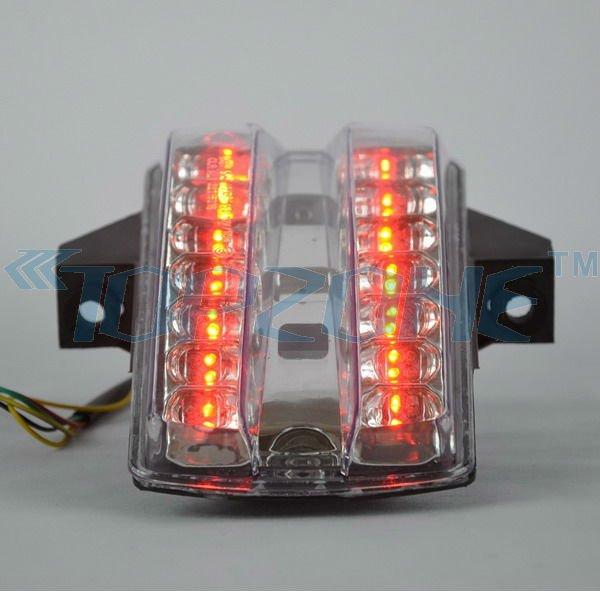 For Suzuki SV650 2003-2008 Tail Light Integrated LED Turn Signals Smoke