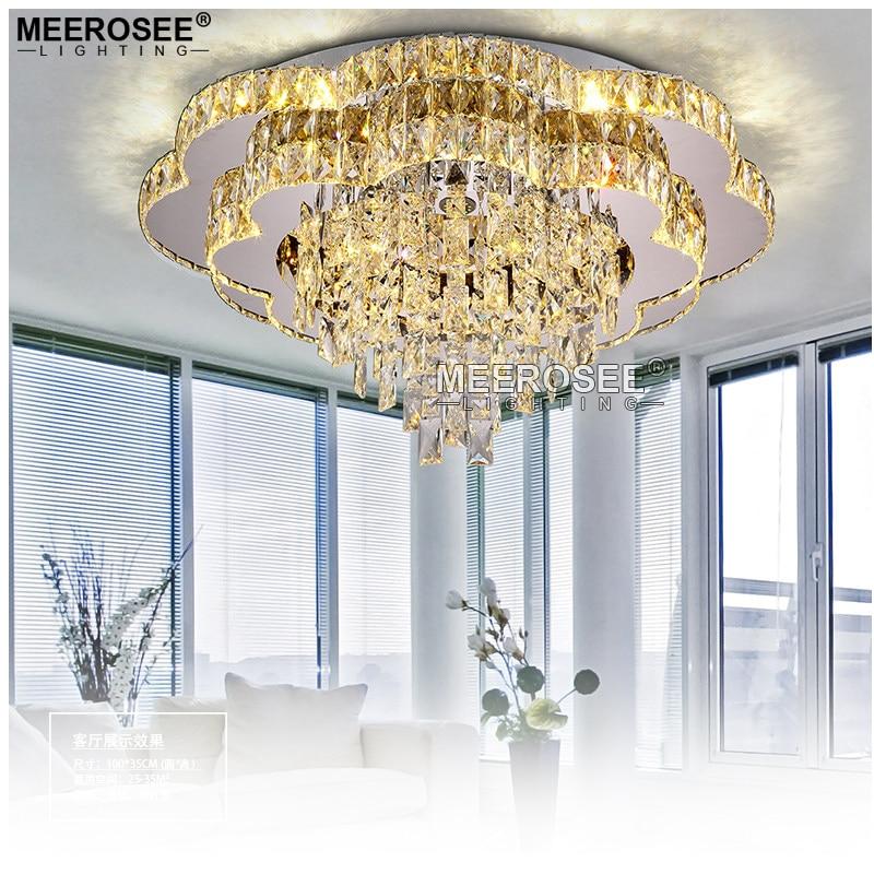 2017 New Modern Chandeliers Crystal Lamp Ceiling Fixtures AC110-240V lustre living Room Lights LED Lamps Flush Mounted
