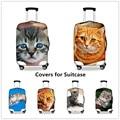 FORUDESIGNS Lindo Gatinho Capas Protetoras para Mala 3D Cat Dust-proof Capa Para 18-28 Polegada Caso Meninas Proteção das mulheres