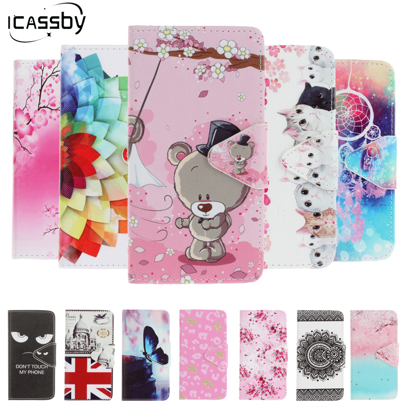 Rainbow Jam 3G Phone Cases Luxury Flip Funda Holder Card Wallet PU Leather Phone Case For Coque Wiko Rainbow Jam 3G Stand Cover ...