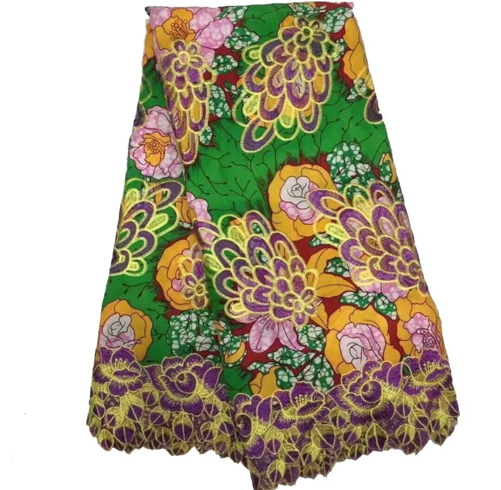 African Lace Folk Style Pattern 125 Cm Width Fabric For Apparel And Fashion Sold By The 5Yard