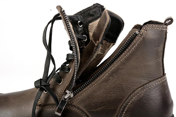 4472af1f CLAX mężczyźni Boot Zipper jesień wysokie buty buty motocyklowe z ...