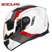 Taiwan ZEUS ZS-813 motorcycle helmet PC Dual visor motorbike racing bicycle helmets four seasons for men/women M L XL XXL
