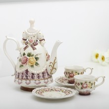 ceramic Bone China Coffee Tea Sets pot and cup Wedding decoration home decor crafts room porcelain firugrine