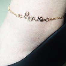 Simple Gold Charm Love Ankle For Women Girl Jewelry  JK044