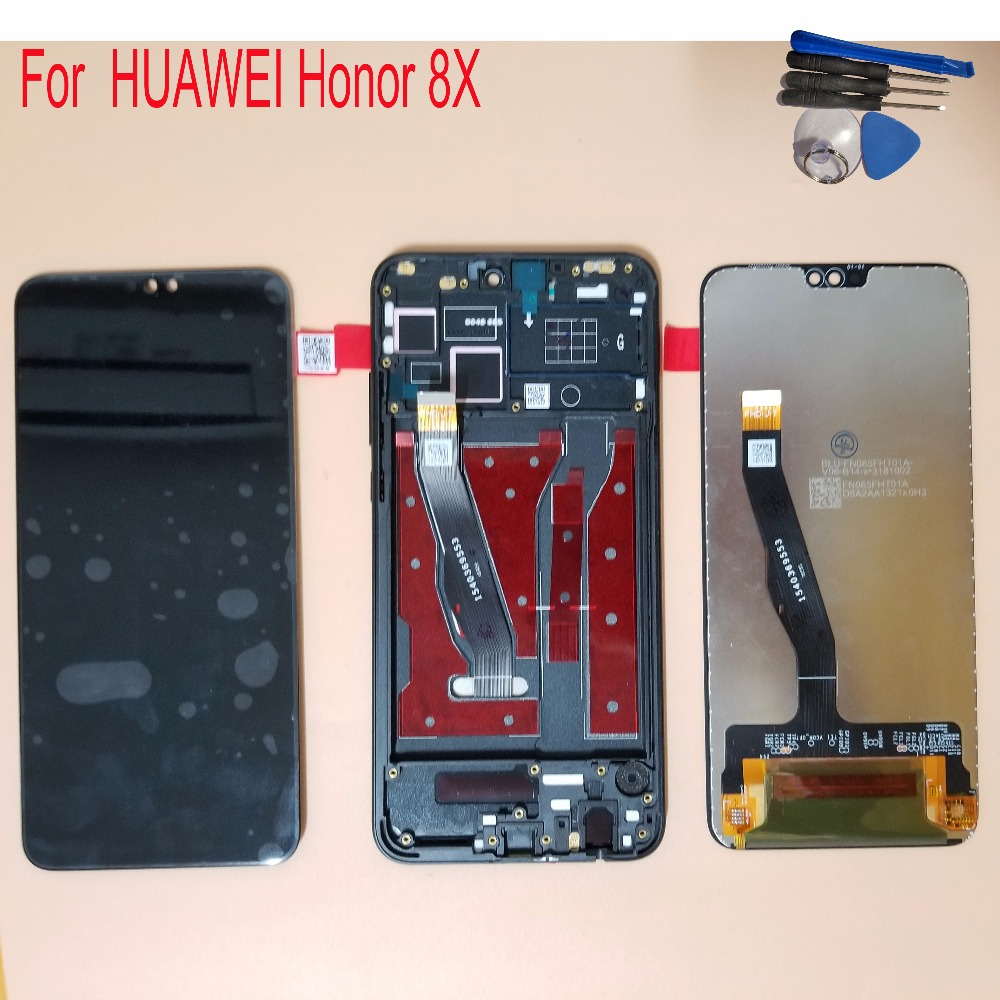 New 6.5 For Huawei Honor 8X JSN-L21 JSN-L42 JSN-L22 LCD Display Touch Screen Digitizer Assembly Replacement With FrameNew 6.5 For Huawei Honor 8X JSN-L21 JSN-L42 JSN-L22 LCD Display Touch Screen Digitizer Assembly Replacement With Frame