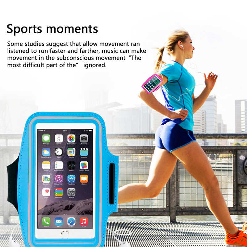 Ramię telefon komórkowy torba 4.7 cal 5.5 cal opaska na ramię do biegania skórzane etui odporny na zabrudzenia ręcznie uchwyt na telefon komórkowy dla iphone