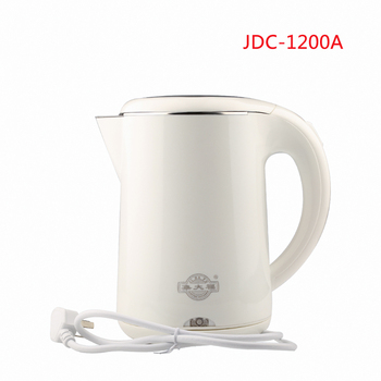 JDC-1200A 1.2L Safety Auto-Off Function Electric Kettle 304 Stainless Steel Quick Heating Kettles white electric heating kettle household 304 stainless steel fast automatic power safety auto off function