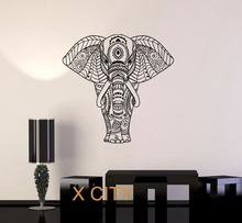Toity Wall Decal Elephant Ornament Animal Patterns Sticker