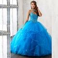 2017 Encantador vestido de Princesa vestido de Baile Quinceanera Dresses V Neck Partido Strap Spaghetti Vestido de Baile vestidos de 15 años Pageant Dres