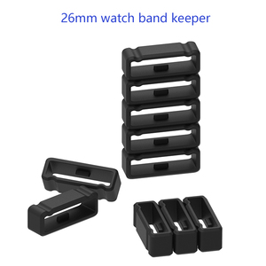 Image 5 - watch band keeper for Garmin Fenix 3 HR silicone Rubber ring replacement wristbands buckle holder for Fenix 5X 6X 26mm loop