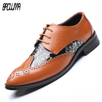 BAOLUMA 2018 New Sale Fashion Pu Leather Casual Men Shoes Men Flats Black Formal Shoe For Man Dress Shoes