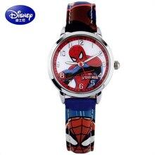 kids watch Genuine Disney brands children's wristwatches Boys waterproof quartz boy watches Leather clocks relogio student