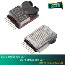 цена на 1pcs/lot Lipo Battery Voltage Tester volt meter monitor buzzer Alarm 1-8s3.7V-22.2V free shipping
